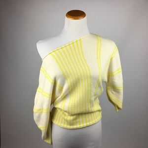 Anthropologie Sweaters - Anthropologie Moth Yellow Striped Sweater XS